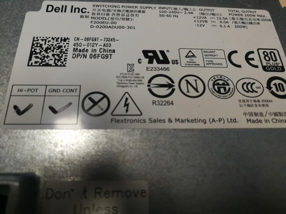 Zdroj 200W Dell Optiplex  790, 990, 7010 USFF č.2